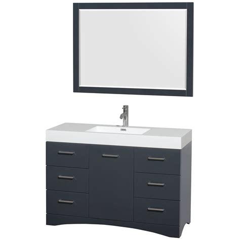 Delray 48 Inch Single Bathroom Vanity In Clay Acrylic Bathroom Vanity 48 Inch Sink