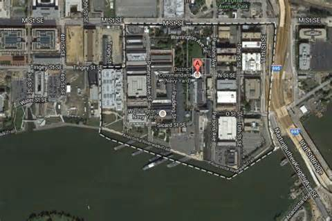 aerial view of navy yard in washington dc abc news