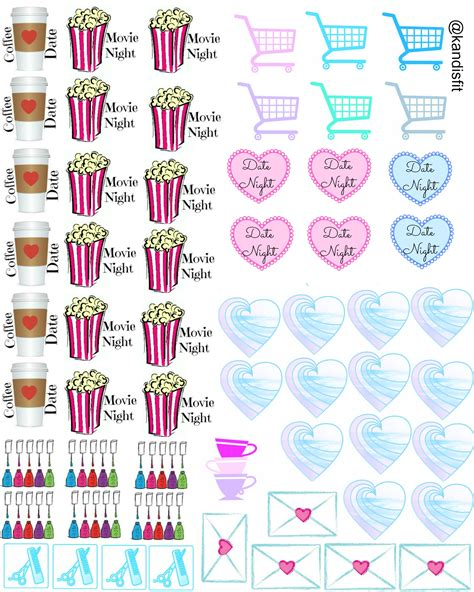 printable free stickers my life planner stickers planners planner stickers and