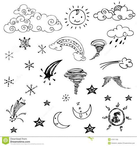 dessin gratuit des symboles de temps sur le fond blanc