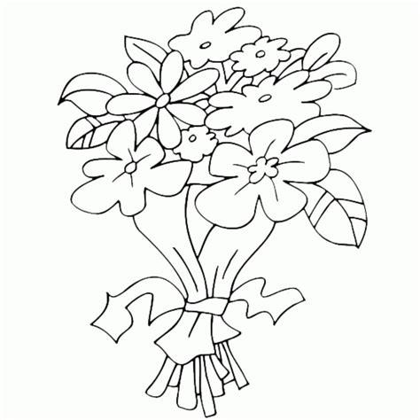 mazzo di fiori da colorare disegni da colorare mazzo di fiori stabile gratuito