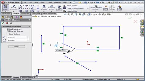 solidworks tutorial lesson 1 solidworks tutorial lesson 12 2d chamfer youtube