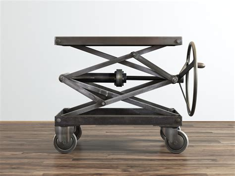 used scissor lift table industrial scissor lift table model turbosquid 1161200