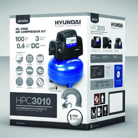hyundai hpc3010 3 gallon air compressor kit import it all