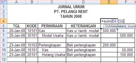 cara membuat jurnal di word modifikasi jurnal umum excel akuntansi akuntansi myob
