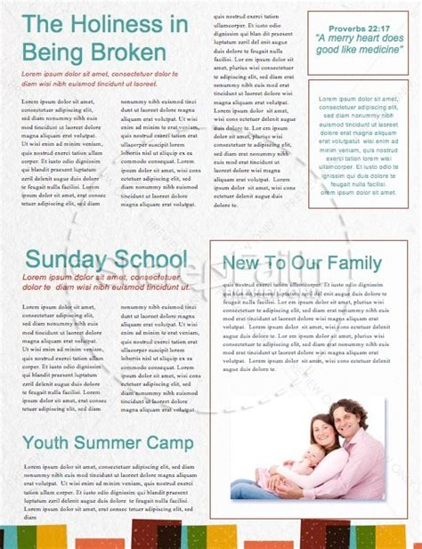 sunday school is starting now church newsletter template
