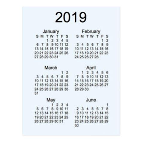 Calendã Feriados 2019 2019 Calendar Postcards Zazzle