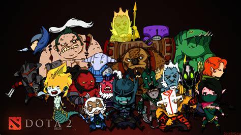 Chibi Dota 8 dota 2 chibi heroes wallpaper 3200x1800 px free