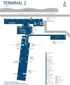 Phoenix Terminal Map by Phoenix Airport Terminal 2 Map