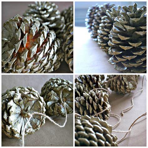 diy pinecone garland simply happenstance