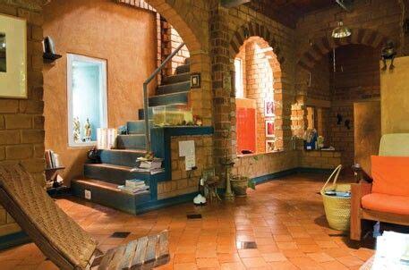 compressed earth blocks brick house designs kerala