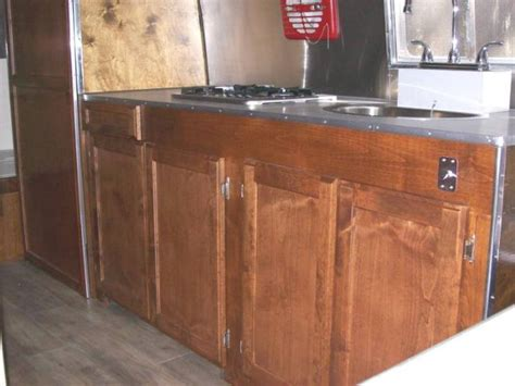 lower kitchen cabinets sierra trailer restoration 1958 airstream flying cloud