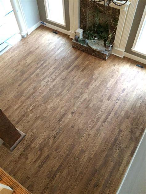 Red Oak hardwood floors with custom stain 50% COLONIAL