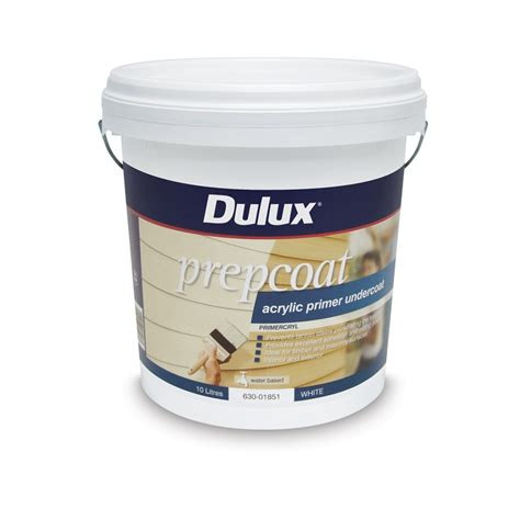 bunnings acrylic paint dulux prepcoat primer undercoat 10l white acrylic
