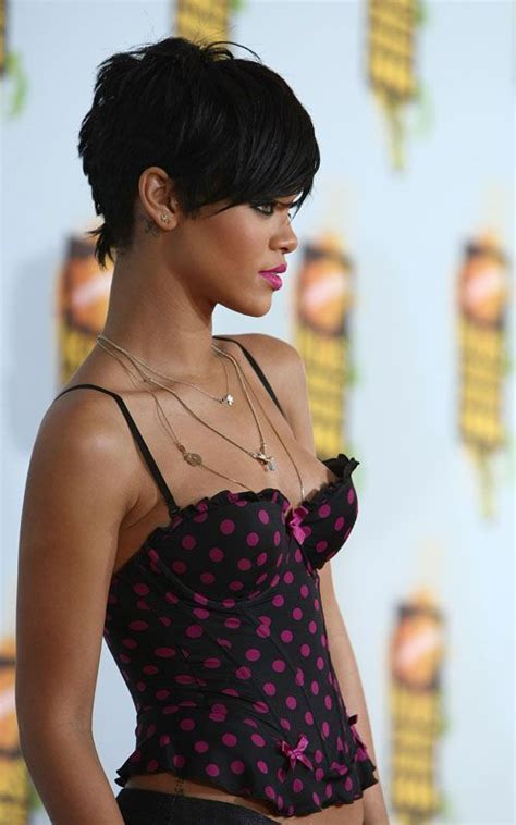 rihanna hairstyle ideas thehairstyler com 25 best ideas about rihanna short haircut on pinterest
