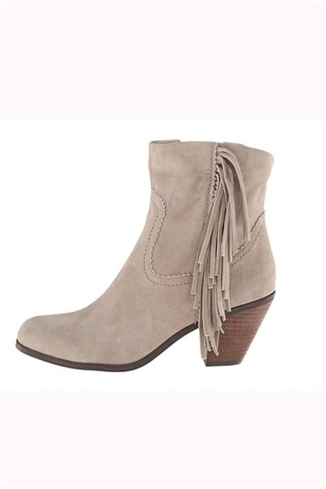 fringe booties sam edelman grey fringe bootie from hudson valley by bfree