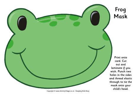 printable nocturnal animal masks frog mask free printable thema kikker pinterest