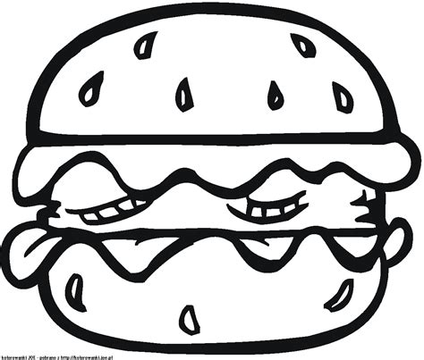 Hamburger Coloring Pages Burger Clipart Colouri sketch template