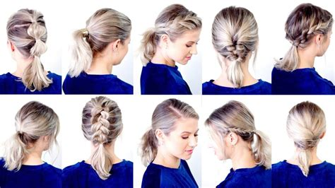 cute easy  ponytail hairstyles milabu youtube