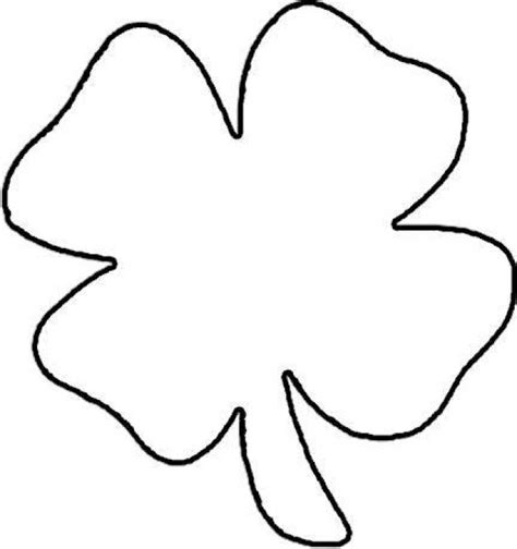 four leaf clover template free a 4 leaf clover coloring pages