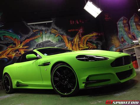 Mansory Aston Martin Db9 In Lime Green Matt Wrap