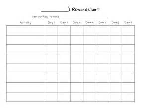 table chart template blank behavior charts calendar template 2016