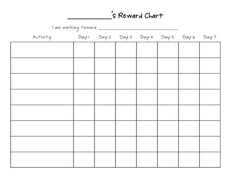 Blank Reward Chart Template blank behavior charts calendar template 2016