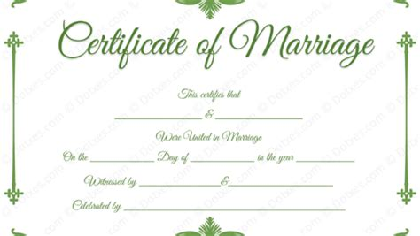 marriage certificate template microsoft word certificate template ms word ms word certificate of