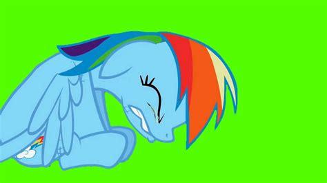 Rainbow Green rainbow dash cries green screen ponies