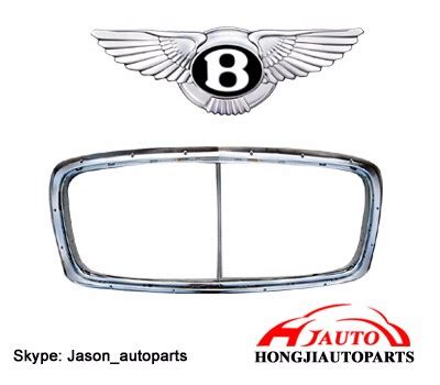 Terios Front Grille Cover Model Bentley Chrome bentley grill front chrome grille bentley gt gtc flying