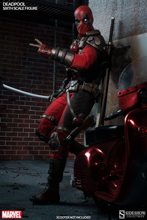 deadpool toys here comes deadpool sideshow collectibles