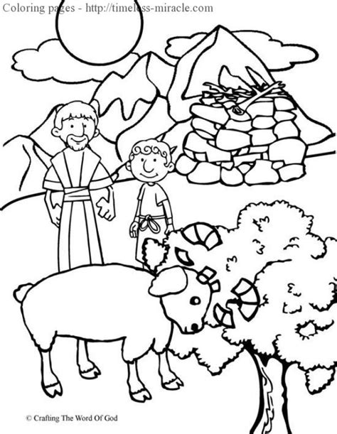 coloring page abraham and isaac abraham and isaac coloring page timeless miracle com