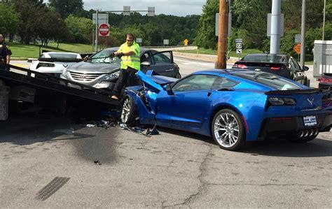 corvette crashes hyundai driver has seizure destroys two corvettes vettetv