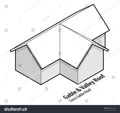 building roof type gable valley roof stock vector