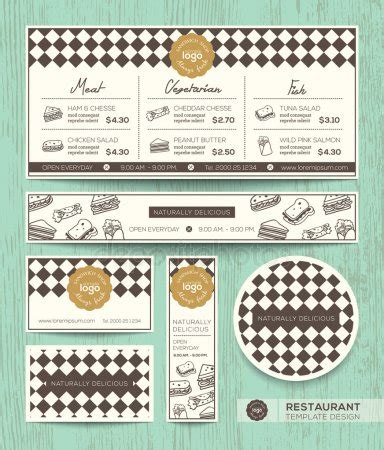 sandwich shop menu template deli stock vectors royalty free deli illustrations