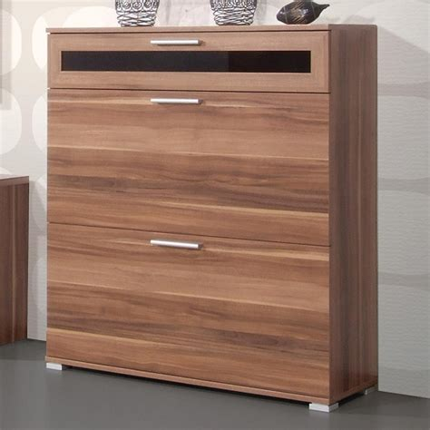 walnut shoe storage cabinet diano wooden shoe storage cabinet in walnut with 3