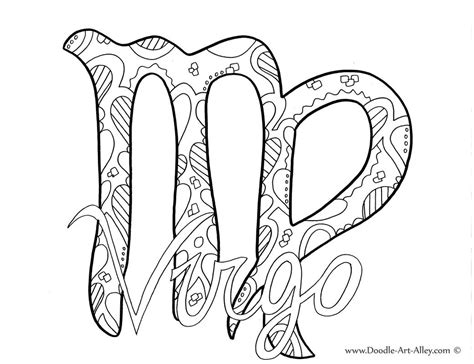 zodiac coloring pages doodle art alley