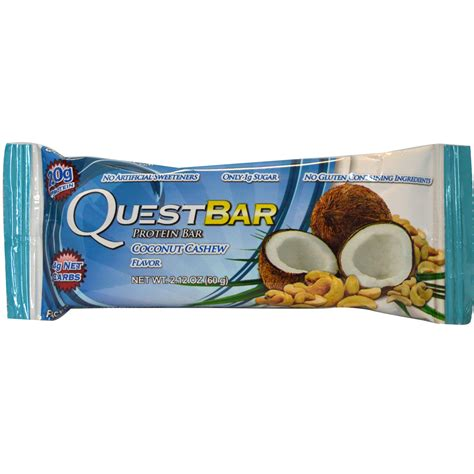 2 protein bars a day quest nutrition protein bar coconut cashew flavor 12