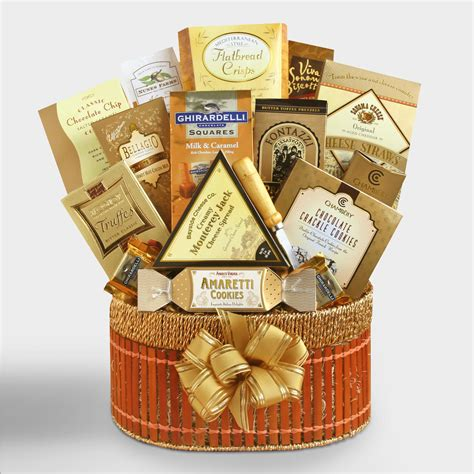 furniture home decor food wine gifts world market golden delights gift basket world market