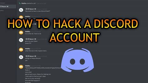 discord hack how to hack a discord account youtube