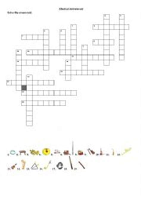 musical instruments crossword puzzle worksheet answers esl worksheets for beginners musical instruments crossword