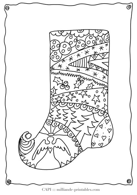 detailed christmas coloring pages for adults christmas stocking to color free printable christmas