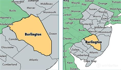 Burlington County Nj Records Map Of Burlington County Nj My