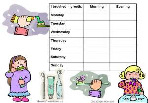 Printable For Kindergarten Reward Charts For Healthy Teeth