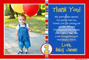photo boy s lil cupcake thank you card 1st birthday