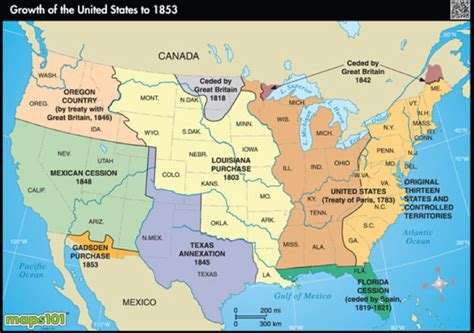 map of the united states during westward expansion geography manifest destiny