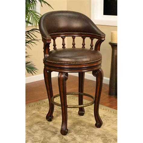 fancy leather bar stools american heritage billiards giovanni canyon bar stool with
