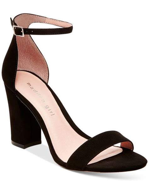 Two Block Heel Sandal - madden two block heel sandals in black lyst