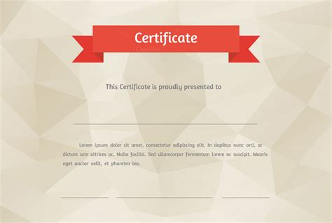 cool certificate templates vector flat style certificate graphics on creative market