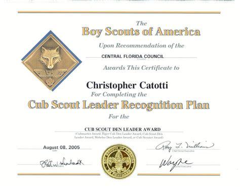 cub scout award card template boy scout certificate of appreciation template choice